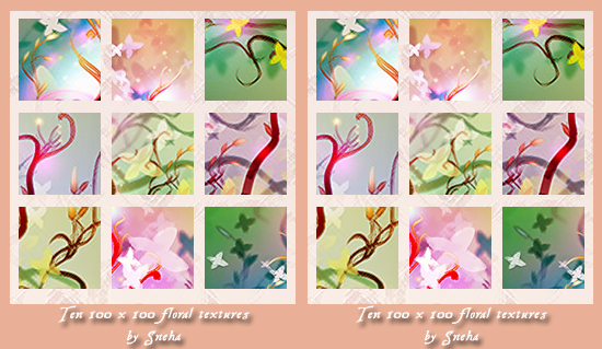 Floral and Flower Textures Sets For Free Download