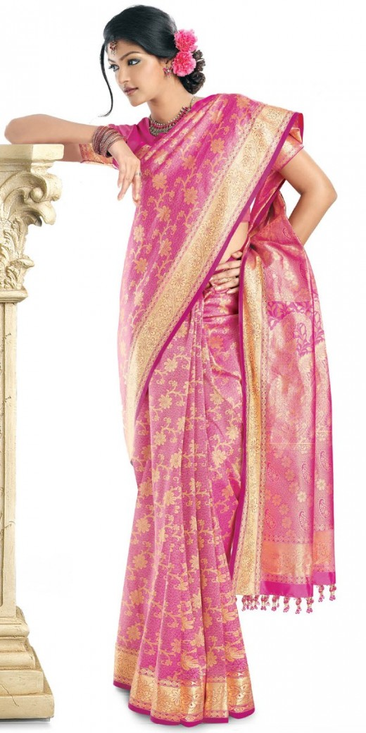 Awesome Silk Party Sarees Choice for Indian Girls 2011 520x1040 - 2011 Party Wear Sarees Designs Collection