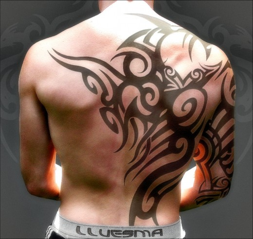 back tribal tattoo design
