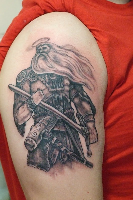 Delightful Warrior Tattoo Designs For 2011