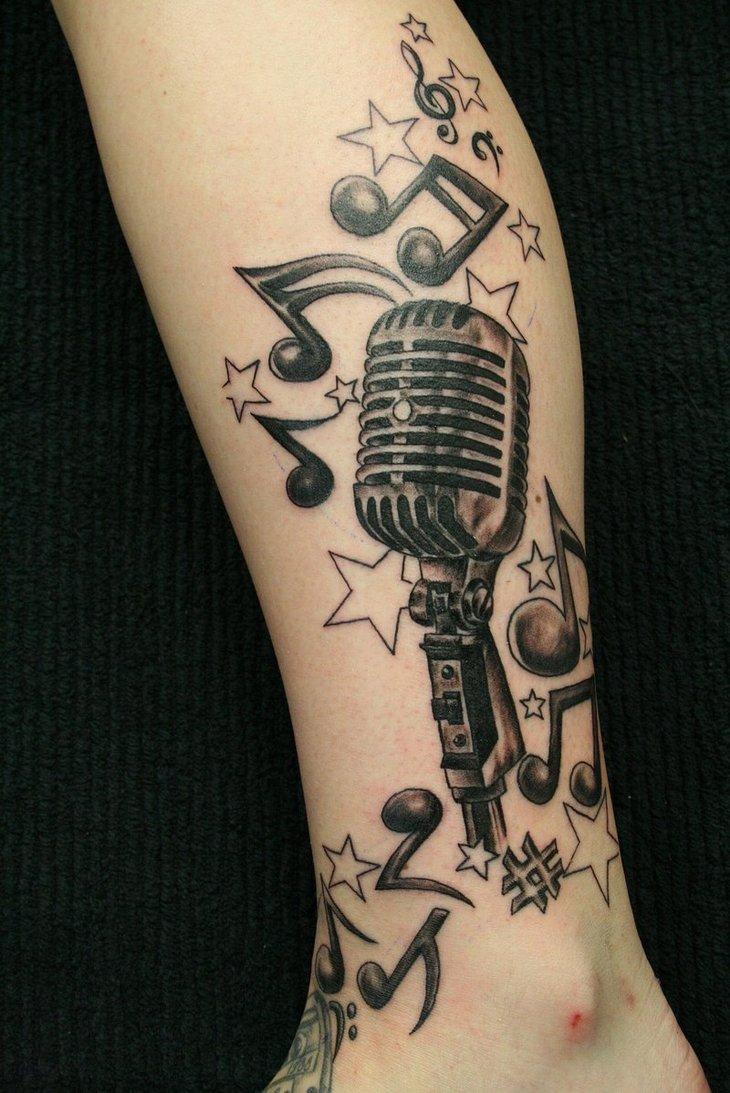 Fantasy Music Tattoo Designs For Girls 2011 Beautiful