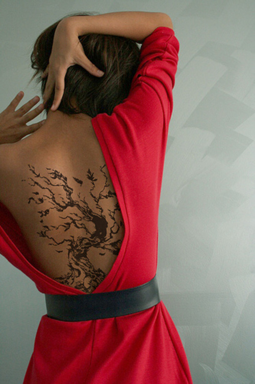 Best Tree Tattoo Design for Younger Girls 2011