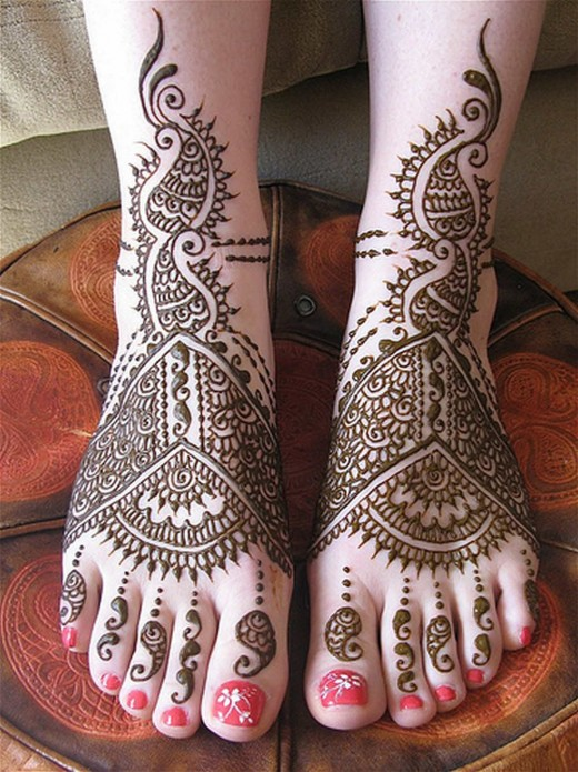 Bridal Feet Mehndi Design for 2011