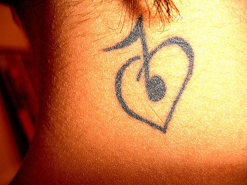 fantasy music tattoo designs for girls 2011. Black Bedroom Furniture Sets. Home Design Ideas