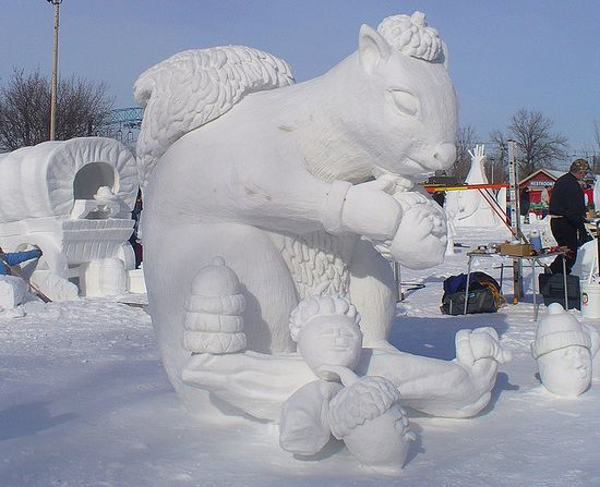 Awesome and Amazing Art of Snow Sculpture