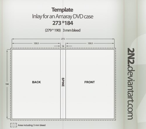 cd inlay template - dvd case inlay for amaray dvd