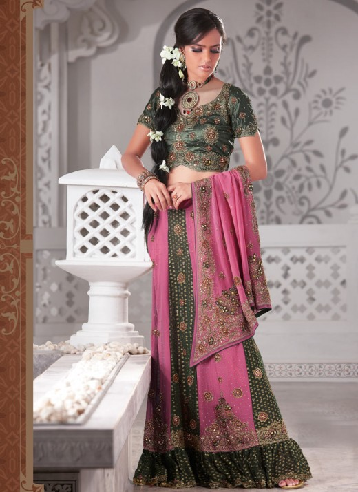Dazzling Party Wear Lengha Choli Design for 2011
