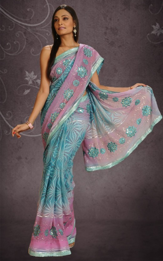 Elegant Bandhani Saree Design for 2011