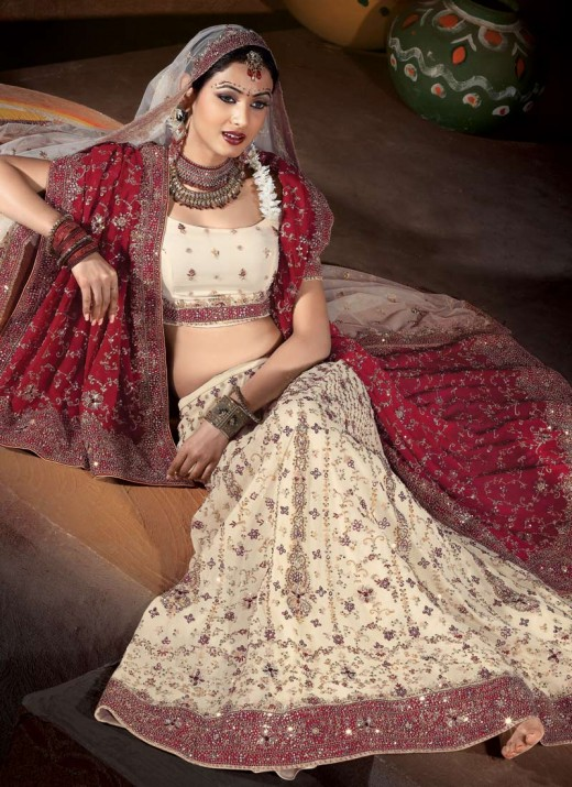 Embroidery Lengha Choli Design for 2011