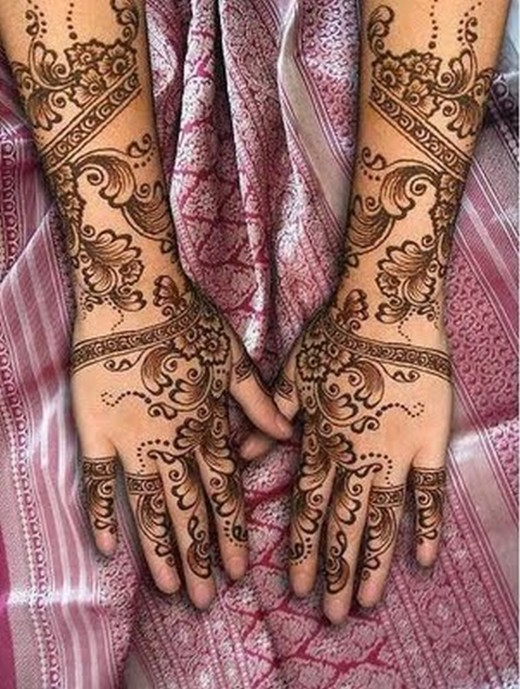 Engagement Style Mehndi Design for Girls