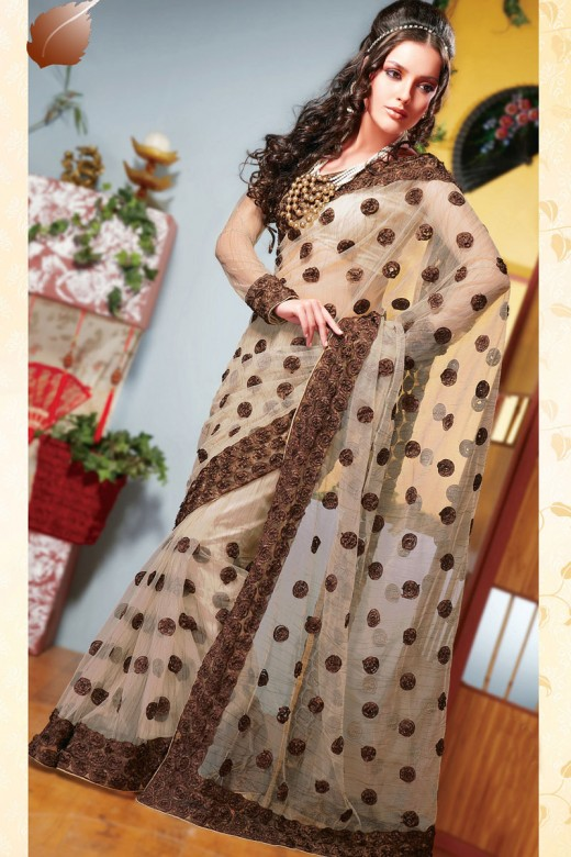 Gorgeous Design of Saree for Party 2011 520x780 - 2011 Party Wear Sarees Designs Collection