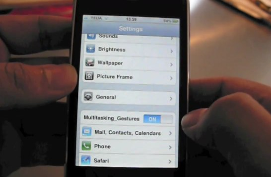 Apple iOS 4.3 Multi Touch Gestures Demo On Video