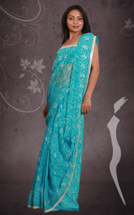 New Bandhani Saree Style for Indian Women