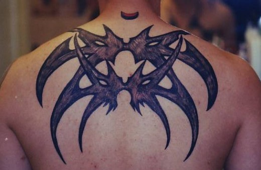 New Upper Back Tribal Tattoo