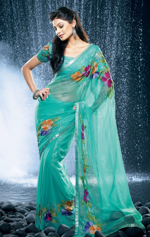 Outstanding Collection of Saree for Party 2011 520x823 - 2011 Party Wear Sarees Designs Collection