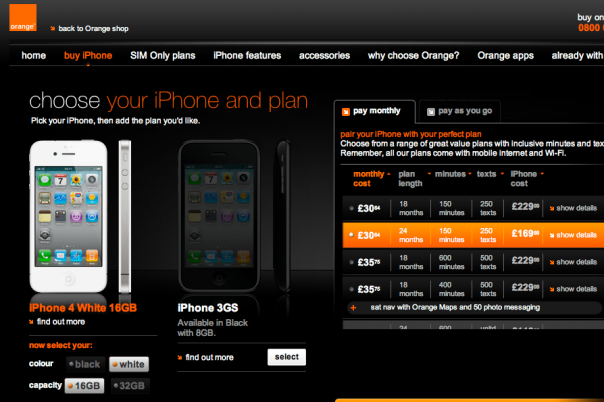 White iPhone 4 Shows Up At AT&T, Orange UK And Three