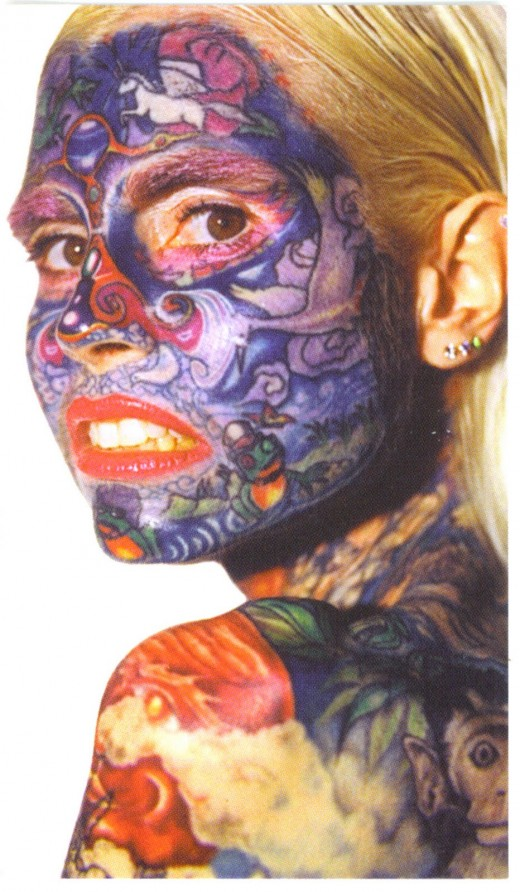 Best Face Tattoo Design for College Girls