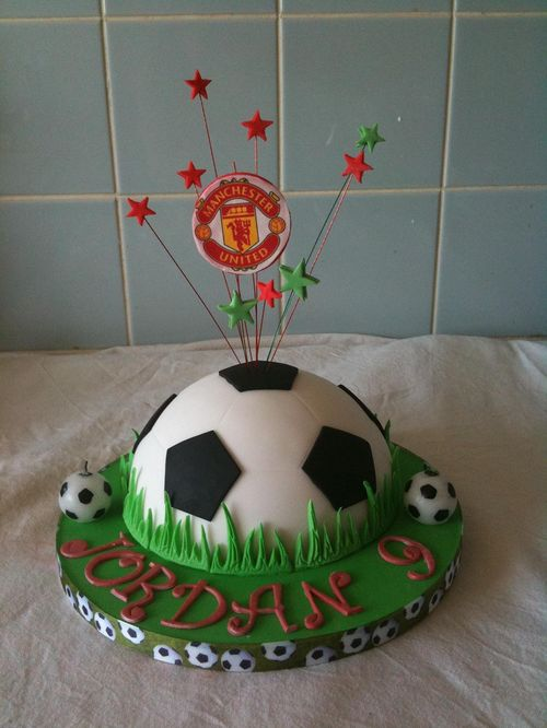 Small Football Cake by Cakes