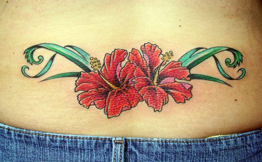 Flower tattoo design on lower back for girls for The girl with the lower back tattoo review