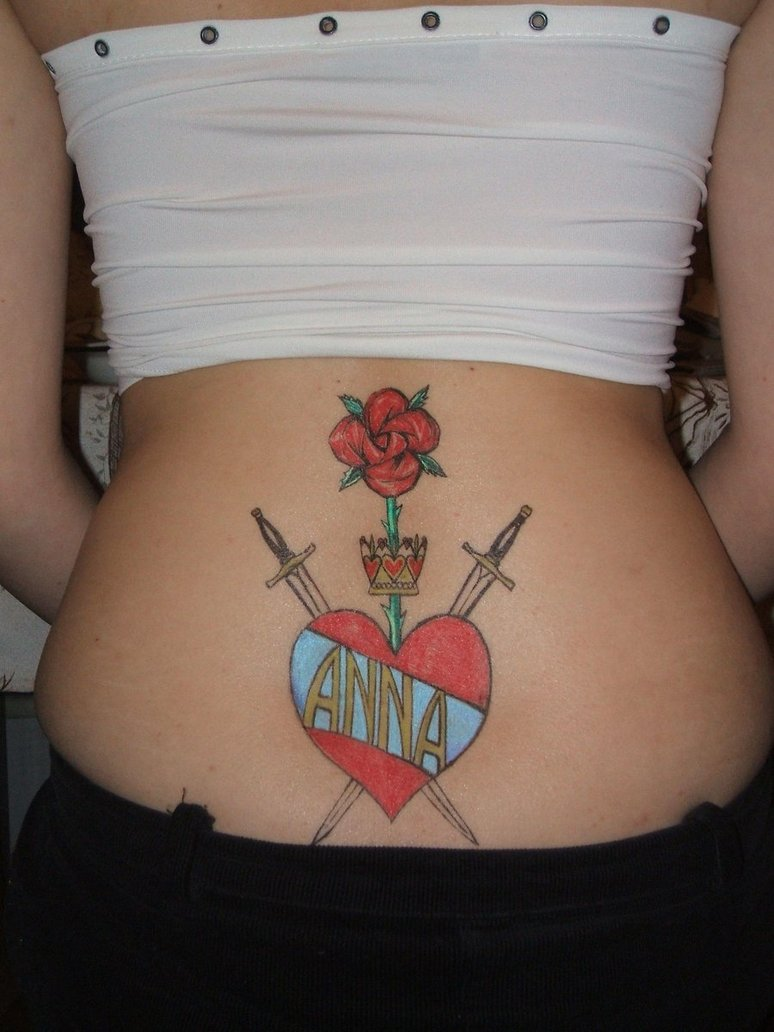 attractive tattoo designs for lower back 2011 lower back tattoo design for college girl 2011. Black Bedroom Furniture Sets. Home Design Ideas