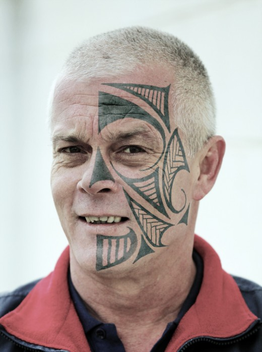 New Face Tattoo 2011 Design for Old Men