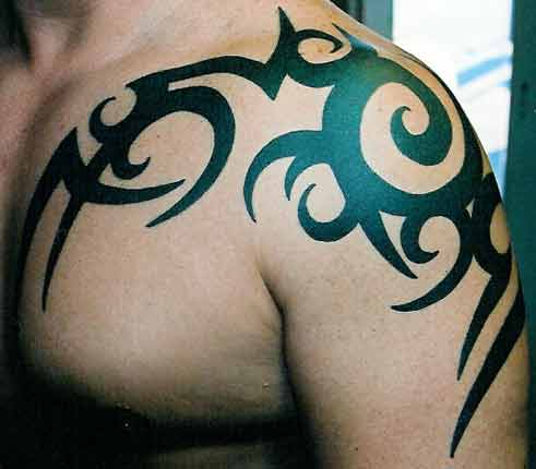 tribal sleeve tattoo designs on Shoulder Tribal Tattoo Designs 2011 | YusraBlog.com
