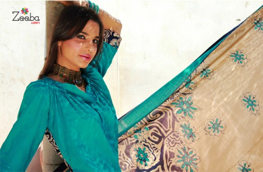 Awesome Zeeba Lawn Collection for Summer - Zeeba Lawn Exhibition For Summer 2011-12