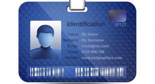 Photo ID Card PSD http://www.yusrablog.com/?attachment_id=45911