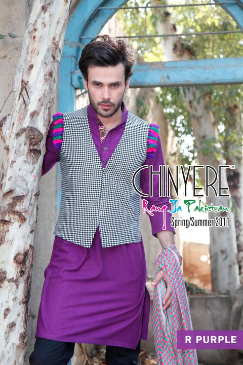 Chinyere Latest Dresses Collection for Men - Chinyere Lawn Summer Collection 2011-12
