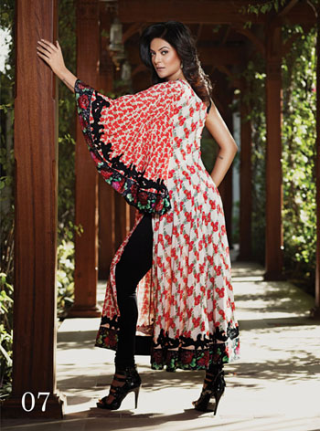 Crescent Lawn Collection 2011-12 With Sushmita Sen