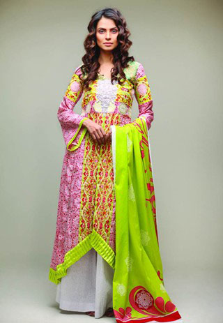 Green Star Pearl Lawn Collection for Summer - Nida Yasir Star Pearl Lawn Collection For Summer