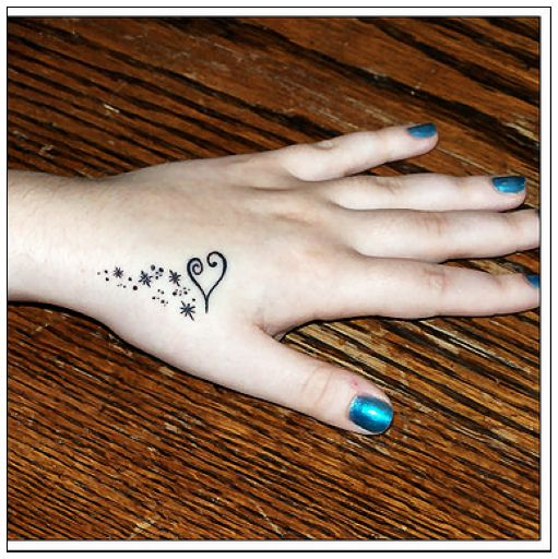 Heart Hand Tattoo Design Fashion for Girls