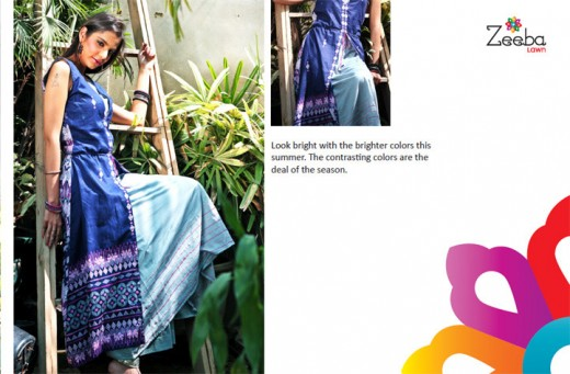 Latest Zeeba Lawn Summer Collection 2011 - Zeeba Lawn Exhibition For Summer 2011-12
