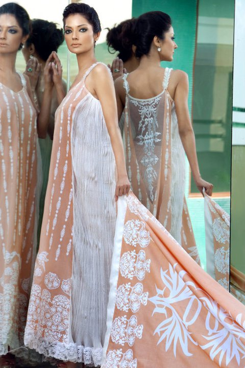 Mahnoush Summer Lawn Collection For 2011-12