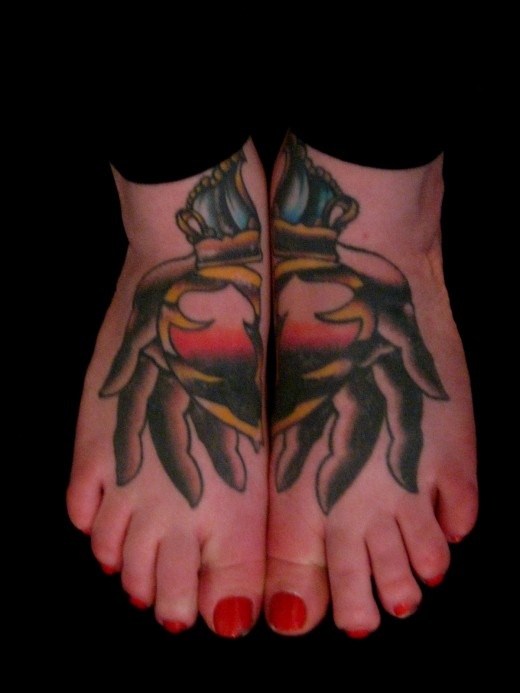 New Feet Tattoo Design Picture for Women