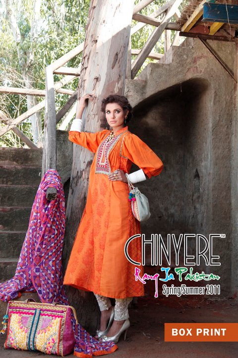 New Lawn Designs of Chinyere 2011 - Chinyere Lawn Summer Collection 2011-12