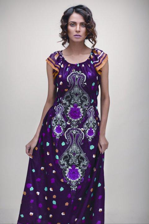 Purple 2011 12 Star Pearl Lawn Collection - Nida Yasir Star Pearl Lawn Collection For Summer
