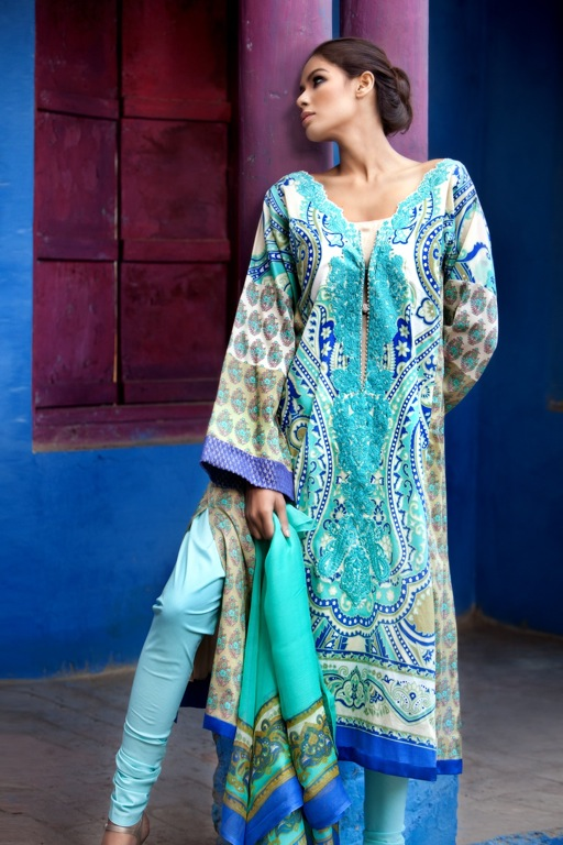 Sana Safinaz Summer Lawn Exhibition 2011-12