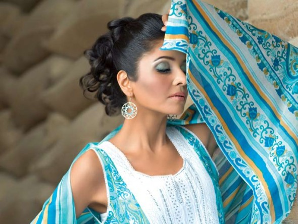 Latest Gul Ahmed Summer Lawn Collection of 2012