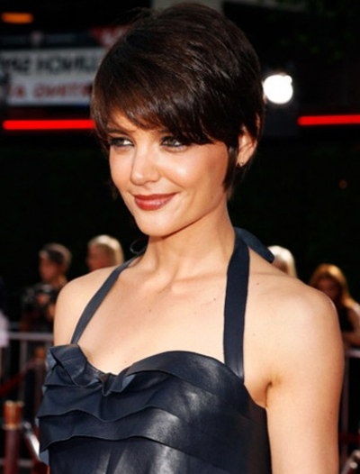 Katie Holmes Short Black Hair Trend
