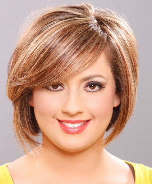 Awesome Round Face Short Hairstyles 2012