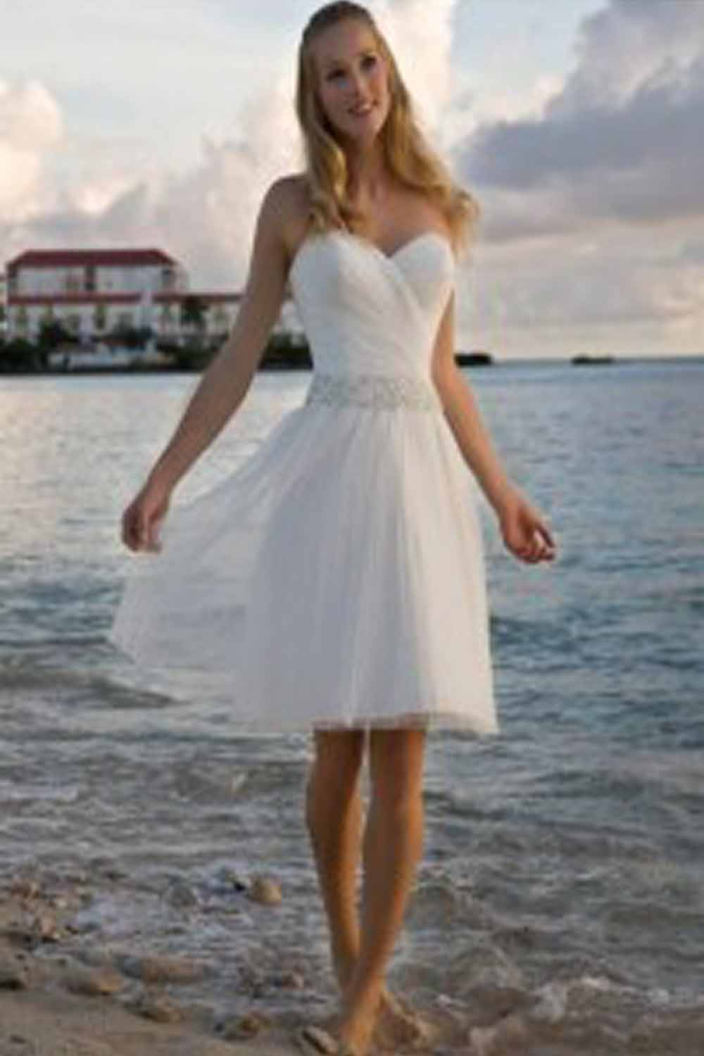 Wedding trend ideas summer beach wedding dresses for Short wedding dresses 2012