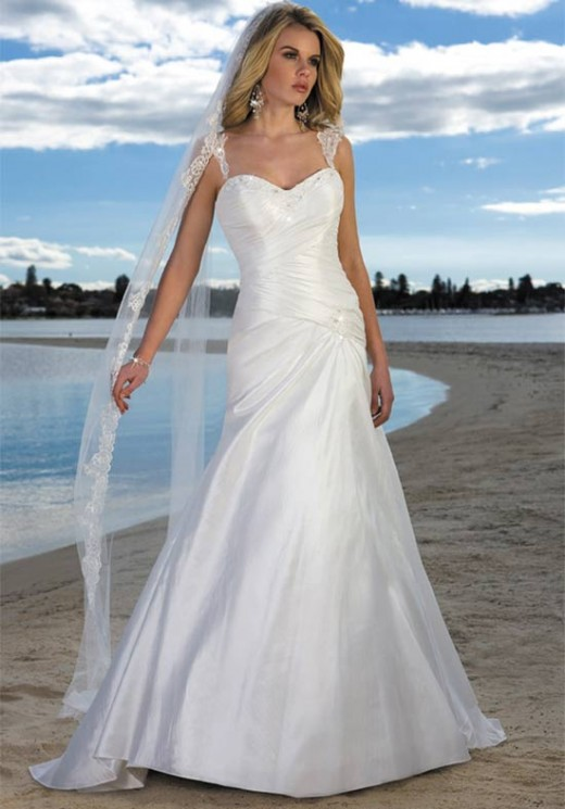 Simple Beach Wedding Dresses Hairstyles And Fashion