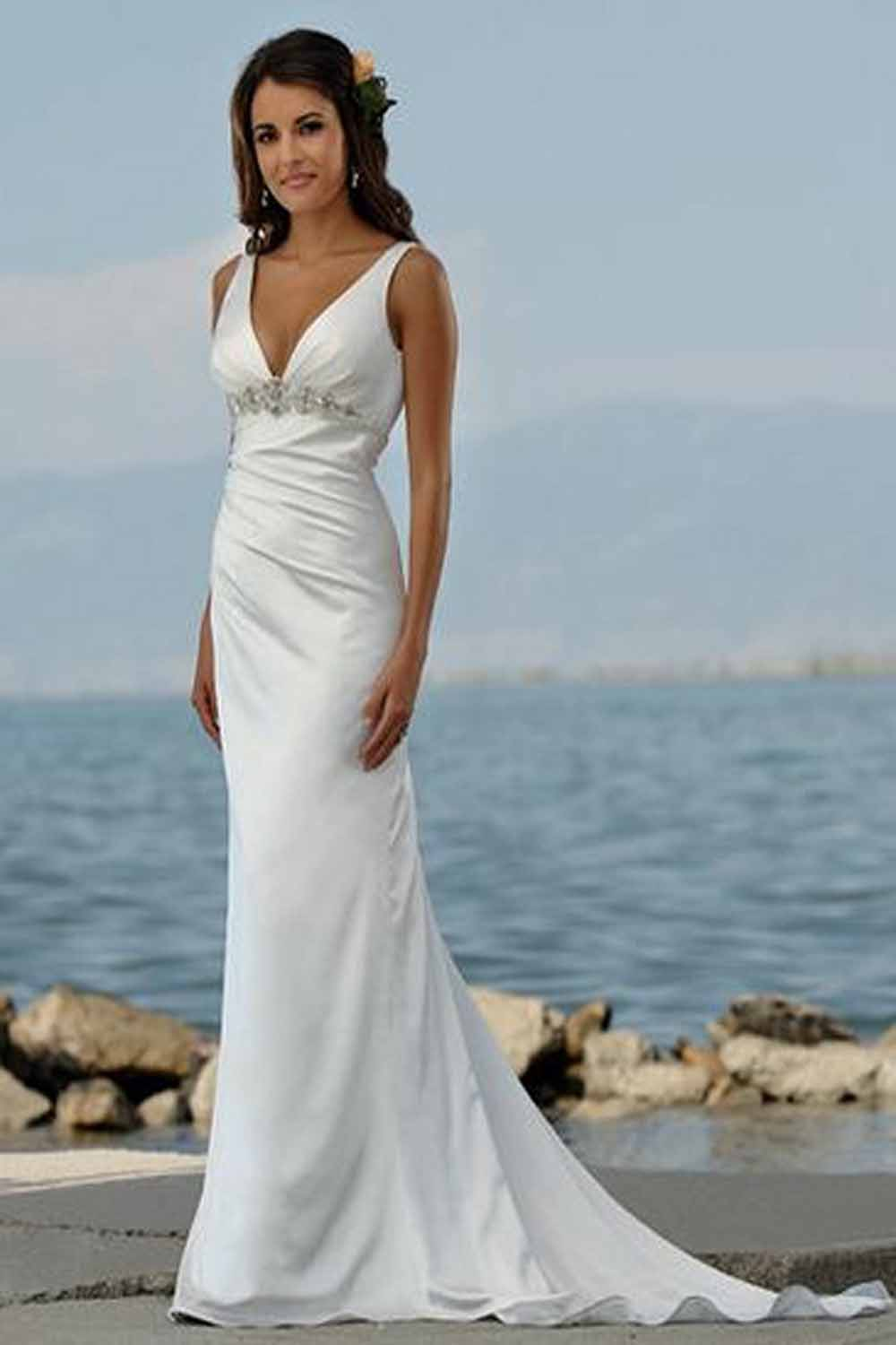 Summer beach wedding dresses 2012 summer beach wedding for Summer dresses for wedding
