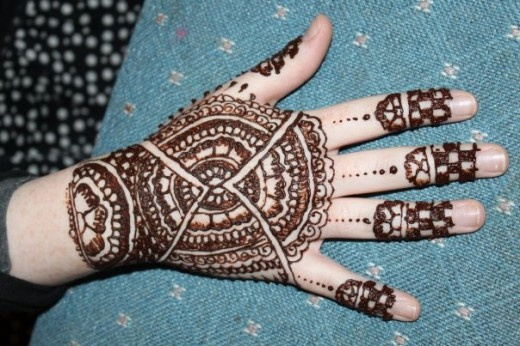 Beautiful Hand Mehndi Designs for Eid 2012 - YusraBlog.com  Beautiful Hand ...