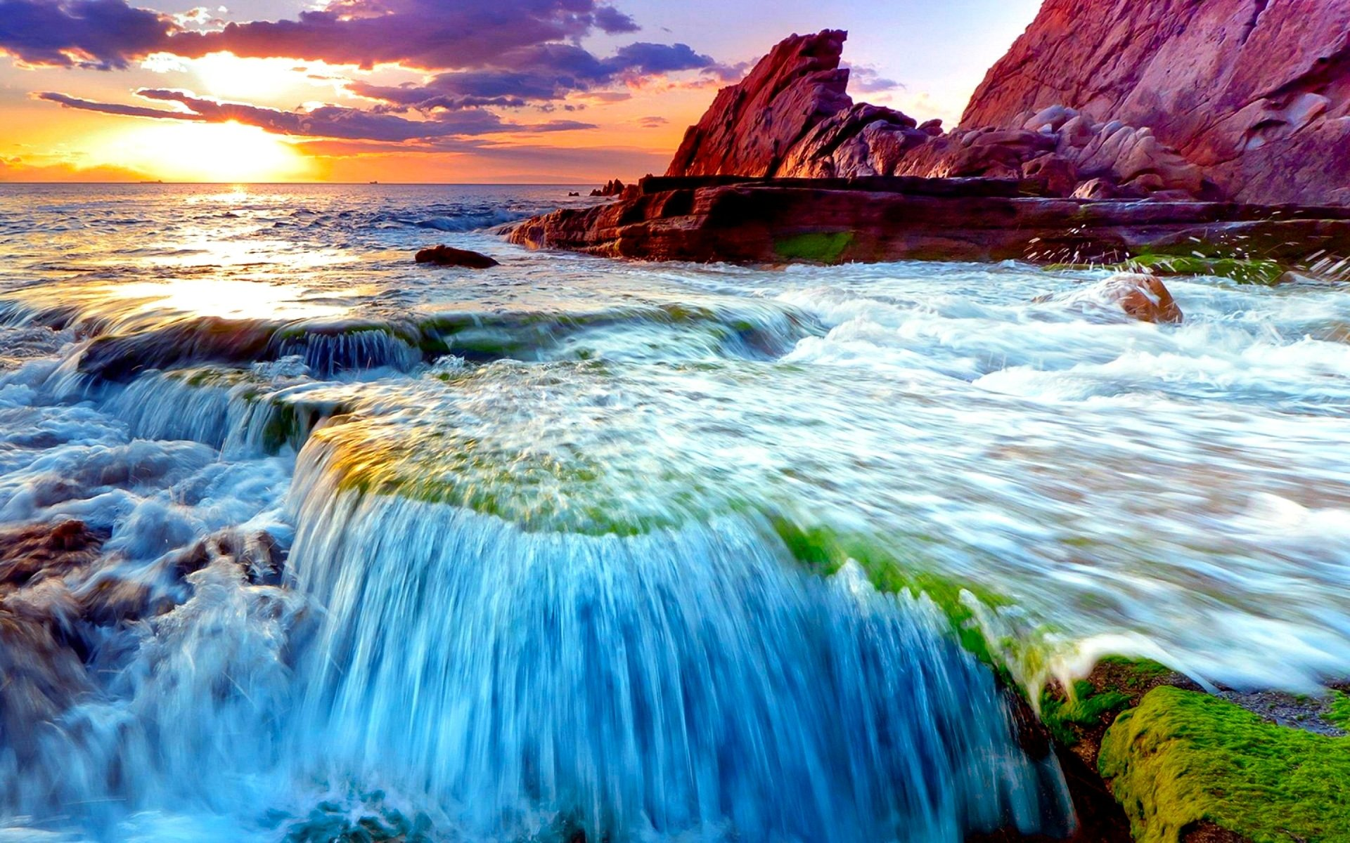 ocn waterfall