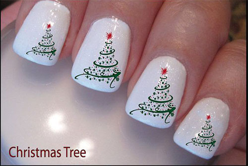 15 Stylish Tree Inspired Christmas Nail Art 2013 Yusrablog