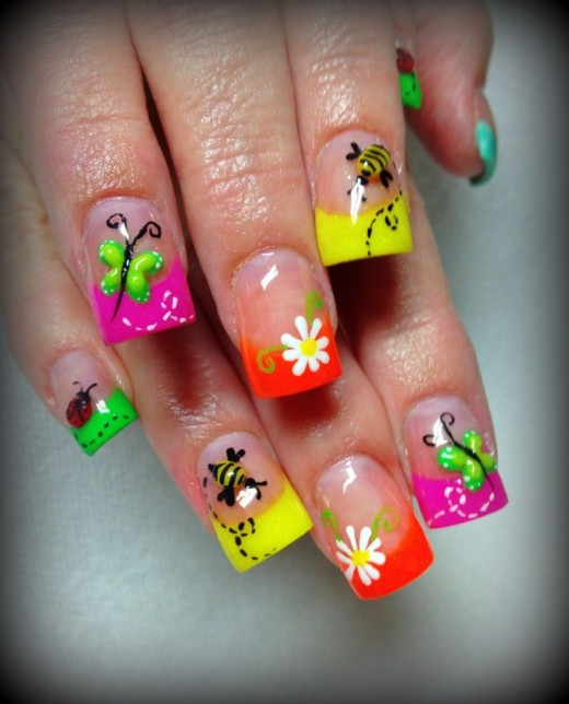 15 Eye-Refreshing Summer Nail Art Designs 2014 - YusraBlog.com
