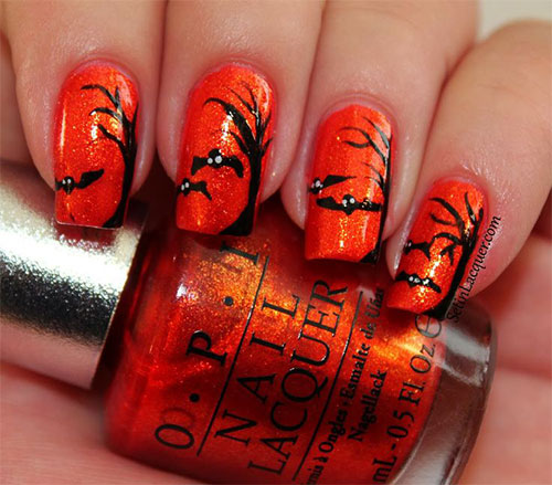 A Inspirational List of Bat Nail Art Designs