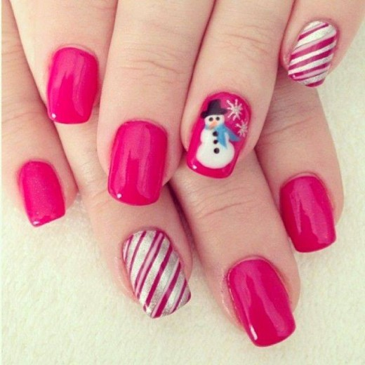 Fancy Christmas Nails Art Pictures for 2015